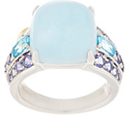 Milky Aquamarine Ring, Sterling Silver - J355608