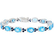 Gemstone 7-1/4 Tennis Bracelet Sterling Silver - J356608
