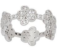 Diamonique Paw Print Band Ring, Sterling Silver - J357608