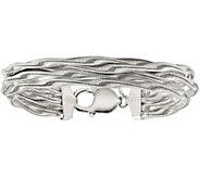 Italian Silver Twisted Omega 5-Strand BraceletSterling, 26.1g - J379908