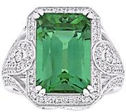 14K Gold 9.00 cttw Apatite & 8/10 cttw DiamondCocktail Ring - J392508