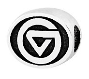 Sterling Silver Grand Valley State Bead - J300709