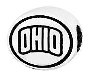 Sterling Silver Ohio University Bead - J300809