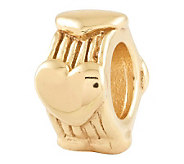 Prerogatives 14K Yellow Gold-Plated Sterling Heart Bead - J302709