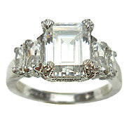 Judith Ripka Sterling 5-Stone 3.60cttw Diamonique Ring - J338009