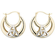Solvar Two-Tone Trinity Hoop Earrings, 14 K Gold - J343109