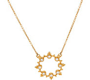 Judith Ripka 14K Gold 1/4  cttw Diamond Circle Necklace - J347509