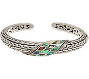 Artisan Crafted Sterling Silver & 18K Gold Abalone Cuff - J349909