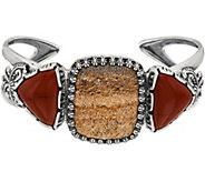 American West Quartzite & Red Jasper Sterling Silver Cuff - J350809