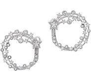 Judith Ripka Sterling Diamonique Shooting Star Hoop Earrings - J352309