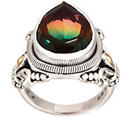 Artisan Crafted Sterling Silver Watermelon Quartz Triplet Ring - J354609