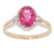 Oval Rubellite and Diamond Ring, 1.75 cttw, 14K - J355609