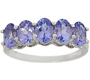 Tanzanite Five Stone Band Ring, 2.00 cttw, Sterling Silver - J356709