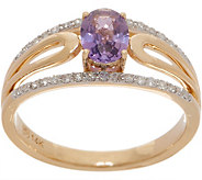 Magenta Sapphire Ring, 0.60 cttw, 14K Gold - J357209