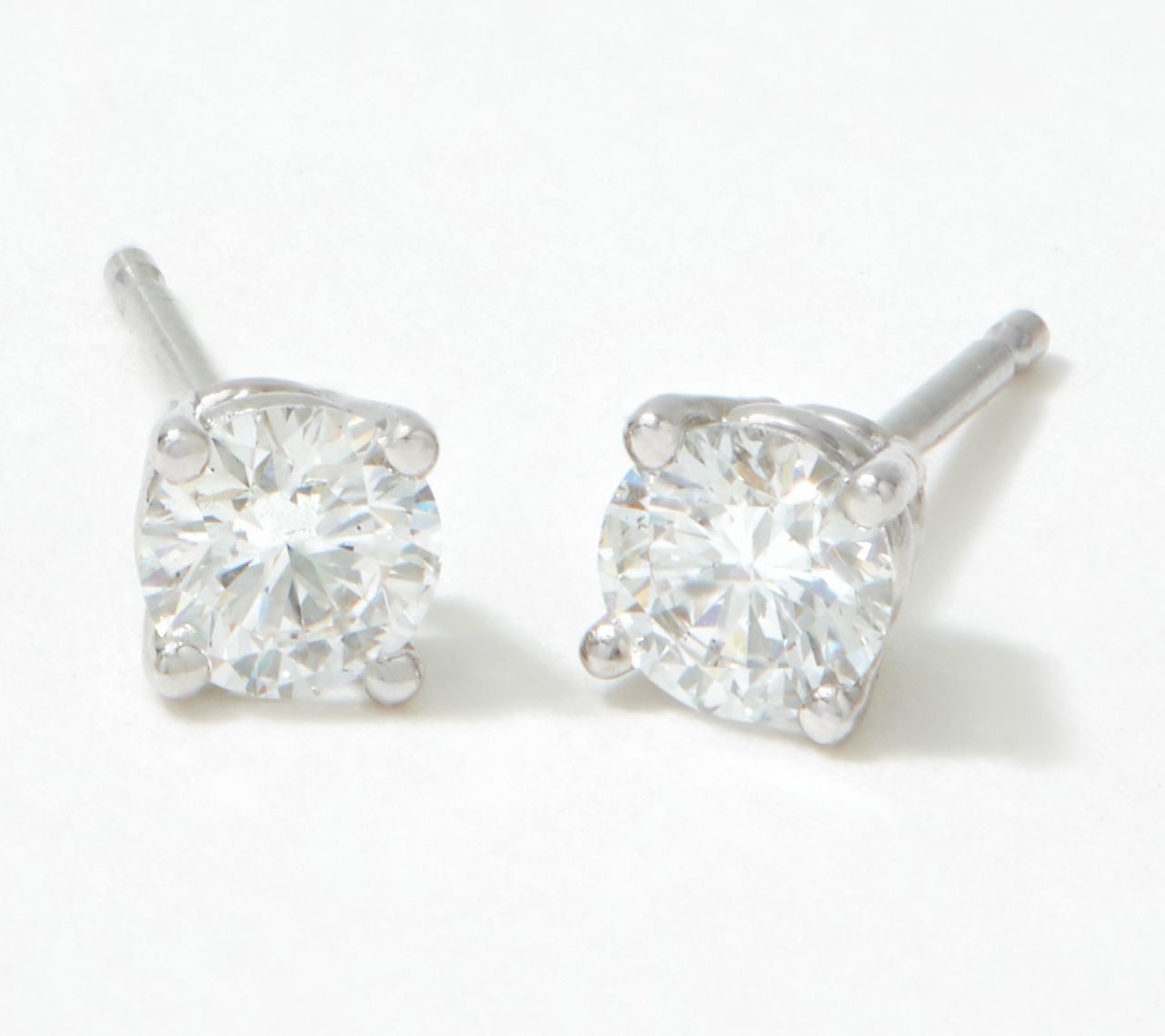 Fire Light Lab Grown Diamond 14k Gold Stud Earrings 1 2cttw Qvc
