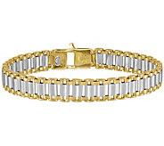 Italian Gold Mens 8-1/4 Two-Tone Link Bracelet, 19.2g, 14K - J384409