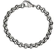 Steel by Design Mens 8-1/4 Textured Rolo LinkBracelet - J385509