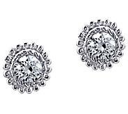 Judith Ripka Sterling Diamonique Round Stud Earrings - J385609