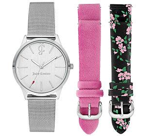 Juicy Couture Ladies' Interchangable Strap Watch Set
