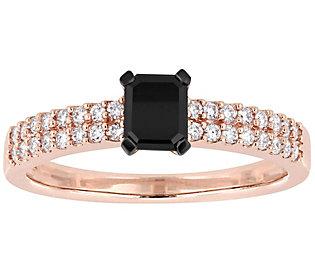 Affinity Black Diamond Engagement Ring, 14K, 3/4