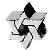 Prerogatives Sterling Silver Star of David Bead - J111510