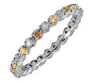 Simply Stacks Sterling Citrine & Diamond Stackable Ring - J298710