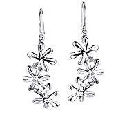 Hagit Gorali Sterling Triple Flower Drop Earrings - J307610