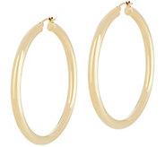 Dieci 2 Polished Round Hoop Earrings, 10K Gold - J334610