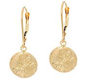 Diamond Cut Drop Earrings 14K Gold - J348810