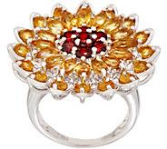 Sunflower Gemstone Statement Ring, Sterling Silver - J354010