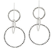 Or Paz Sterling Multi-Circle Dangle Earrings - J354610