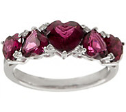 Brazilian Garnet and Diamond Ring, 2.60 cttw, Sterling Silver - J355610