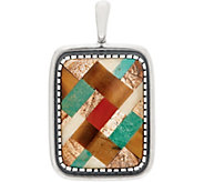 American West Sterling Silver Inlay Gemstone Enhancer - J355710