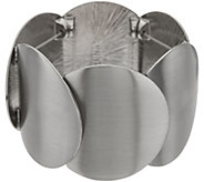 Susan Graver Overlapping Circle Stretch Bracelet - J357110