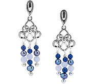 Carolyn Pollack Shades of Beaded Chandelier Earrings - J376610