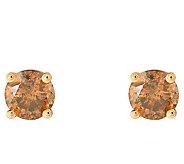 Affinity 14K 1/4 cttw Round Cognac Diamond StudEarrings - J382310