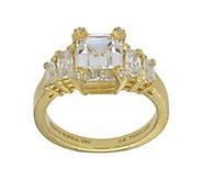 Judith Ripka 14K Clad 5-Stone 3.60 cttw Diamonique Ring - J382410
