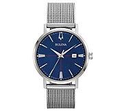 Bulova Mens AeroJet Stainless Steel Mesh Bracelet Watch - J382610