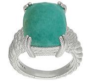 Judith Ripka Sterling Cushion-Cut Amazonite Ring - J383210