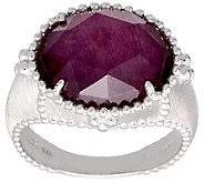 Judith Ripka Sterling Ruby Doublet Ring - J390810