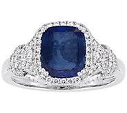 14K Gold 2.50 cttw Sapphire & 1/2 cttw DiamondRing - J392510