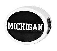 Sterling Silver University of Michigan Bead - J300711