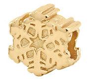 Prerogatives 14K Yellow Gold-Plated Sterling Snowflake Bead - J302811