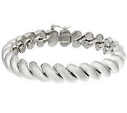 Sterling 8 San Marco Bracelet by Silver Style, 35.0g - J346311