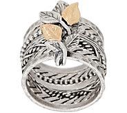 Or Paz 14K Gold & Sterling Silver Multi-Band Ring w/ Leaf Details - J351911