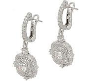 Judith Ripka Sterling 1.65 cttw Diamonique Earrings - J352311