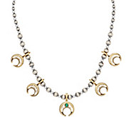 American West Sterling Silver & Brass Naja Bead Necklace - J355711