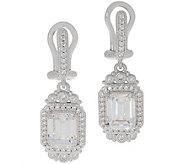 Judith Ripka Sterling or 14K Clad Diamonique Earrings - J356711