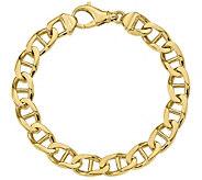 Mens 14K Gold 9 Anchor Link Bracelet, 43.4g - J384411