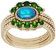 Judith Ripka 14K Gold Gemstone Ring Set - J390011